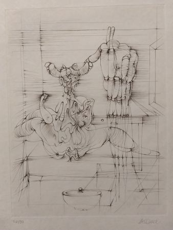 Литография Bellmer - Hommage a Picasso