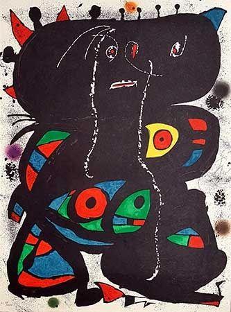 Литография Miró - Hommage Aux Prix Nobel