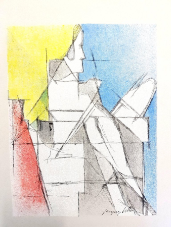 Литография Villon - Homme