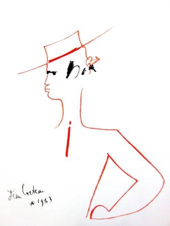 Литография Cocteau - Homme au Chapeau