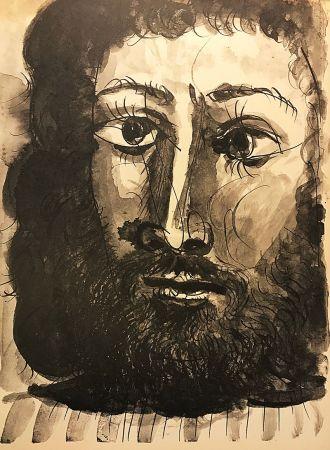 Нет Никаких Технических Picasso (After) - Homme barbu à la chemise rayée