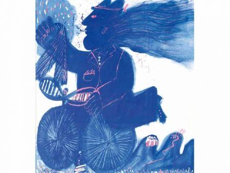 Нет Никаких Технических Fassianos - Homme et bicyclette bleue