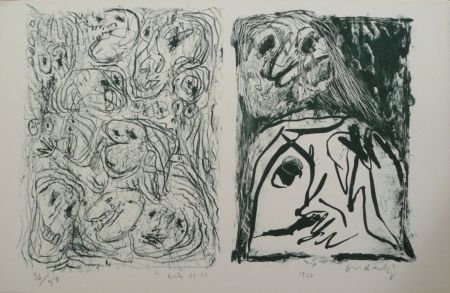 Литография Alechinsky - Hors Texte Vii - Viii