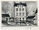 Гравюра Сухой Иглой Buffet - Hotel de la Poste