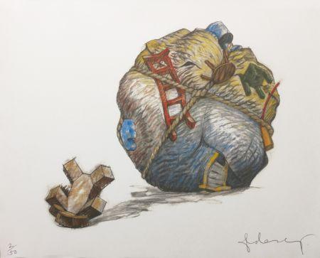 Сериграфия Oldenburg - HOUSEBALL WITH FALLEN TOY BEAR