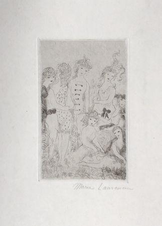 Гравюра Laurencin - Huit filles dans un pré