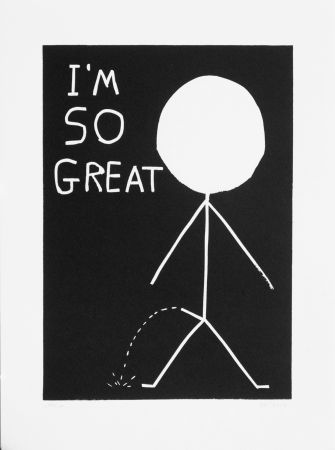 Линогравюра Shrigley - I am so great
