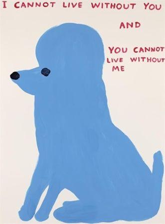 Сериграфия Shrigley - I Cannot Live Without You