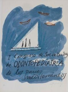 Литография Ràfols Casamada - I CONGRESO DE SOCIEDADA DE ODONTOPEDIATRIA