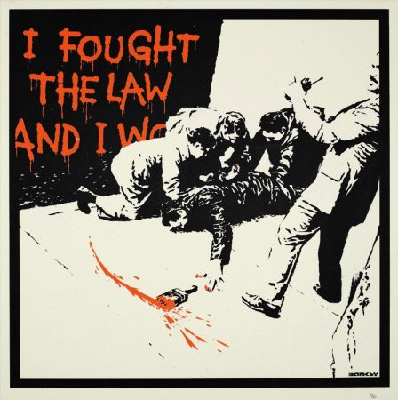 Сериграфия Banksy - I FOUGHT THE LAW
