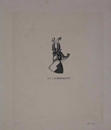 Офорт Friedrich - I. I. Liebrecht