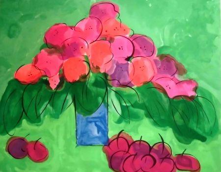 Литография Ting - I Love Cherries and Flowers