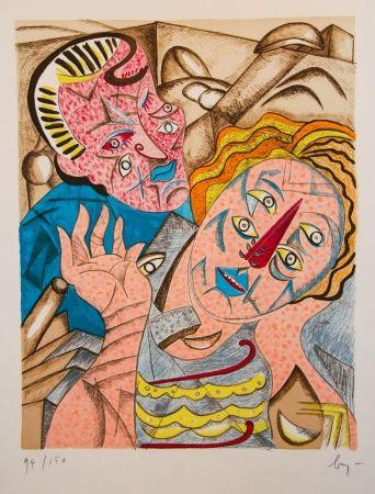 Литография Baj - Il Bacio I
