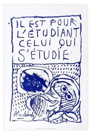 Литография Alechinsky - Il est pour l'étudiant, celui qui s'étudie