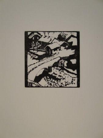 Гравюра На Дереве Giacometti - Il ponte al sole, die Brücke in Stampa
