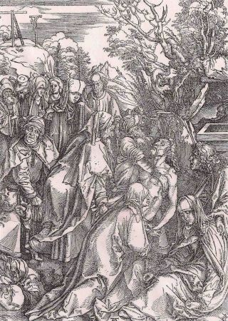 Гравюра Durer - Il seppellimento