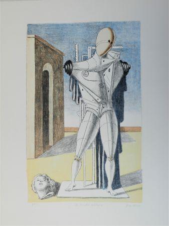 Литография De Chirico - Il trovatore solitario