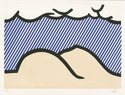 """Офорт И Аквитанта Lichtenstein - Illustration For """"De Denver Au Montana, Départ 27 Mai 1972"""" (I)"""