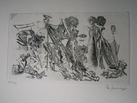 Офорт И Аквитанта Zimmermann - Im Atelier des...  II
