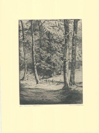 Гравюра Kätelhön - Im Wald