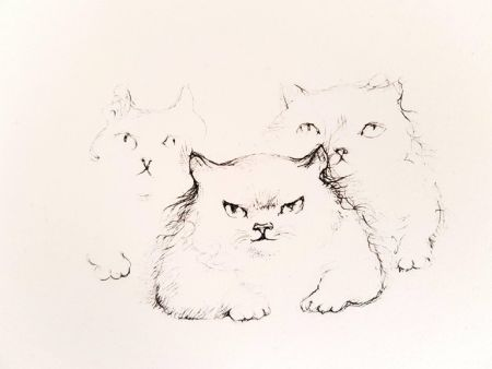 Литография Fini - Image : 13 x 17,6 cm.