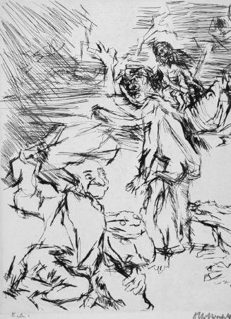Офорт Kokoschka - Imaginares Bildnis des Aritophanes
