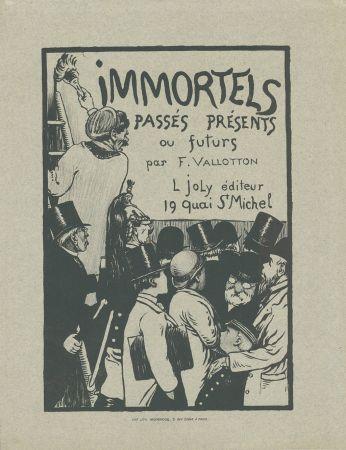Литография Vallotton - Immortels passés, présents ou futurs