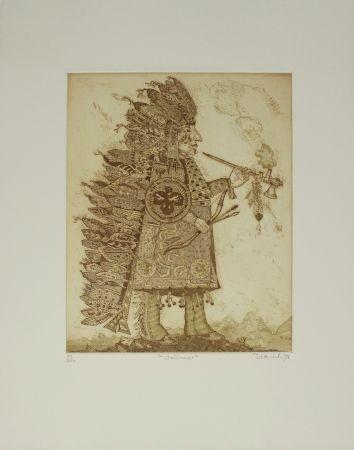Гравюра Dittrich - Indianer / Indian