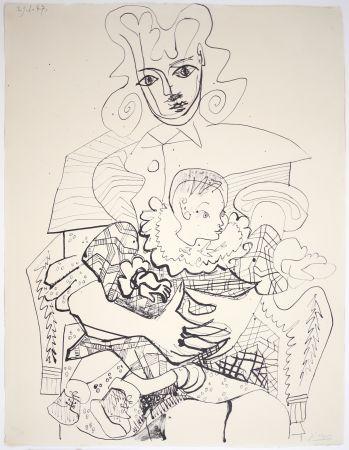 Литография Picasso - Ines Et Son Enfant