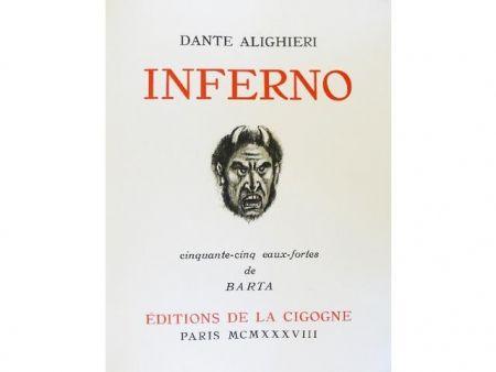 Иллюстрированная Книга Barta - Inferno.  Cinquante-cinq eaux-fortes de Barta.
