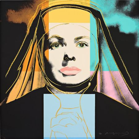 "Сериграфия Warhol - Ingrid Bergman The Nun (From ""The Bells of St. Mary's"")"
