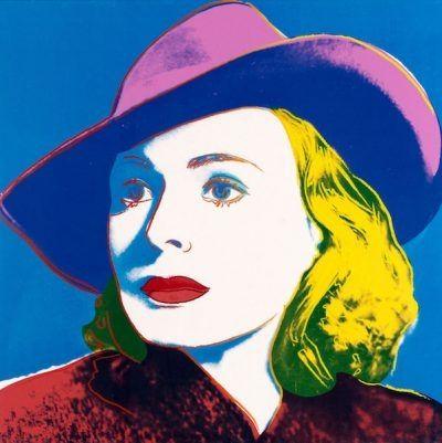 Сериграфия Warhol - Ingrid with Hat