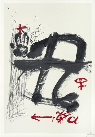 Сериграфия Tàpies - Inicials (AVL Zürich)