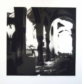 Литография Equipo Realidad - Interior de la Iglesia de Espejo (Cordoba) en septiembre de 1937