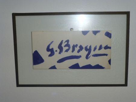 Литография Braque - Invitation à la galerie Maeght