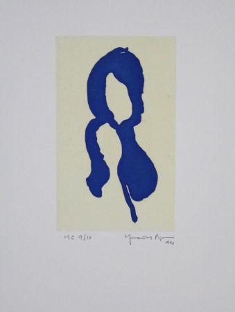 Акватинта Hernandez Pijuan - Iris blau I / Blue Iris I