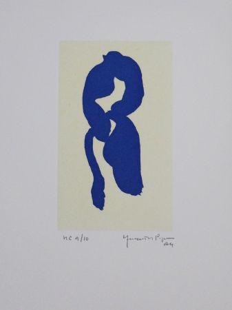 Акватинта Hernandez Pijuan - Iris blau III / Blue Iris III