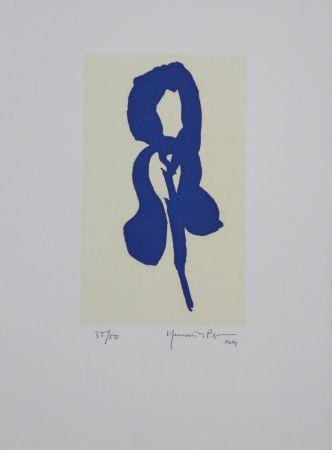 Акватинта Hernandez Pijuan - Iris blau IV / Blue Iris IV