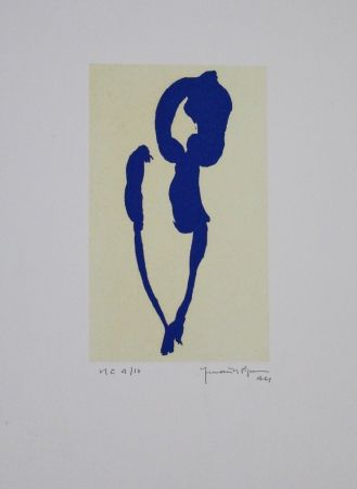 Акватинта Hernandez Pijuan - Iris blau VII / Blue Iris VII