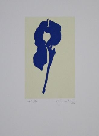 Акватинта Hernandez Pijuan - Iris Blau Viii / Blue Iris Viii