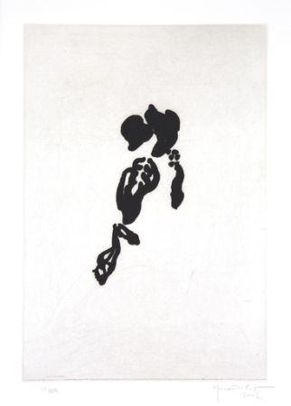 Гравюра Hernandez Pijuan - Iris negre II