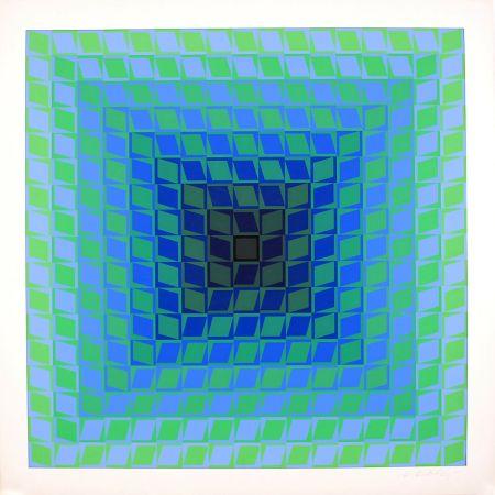 Сериграфия Vasarely - Ix Positif - Quasar