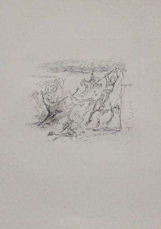 Литография Slevogt - Jagd der hellenischen Soldaten