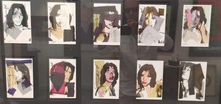 Гашение Warhol - Jagger M. invitation card - portfolio