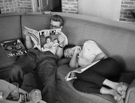Фотографии Miller - James Dean and Elizabeth Taylor