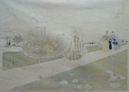 Литография Vuillard - Jardin Des Tuileries