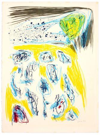 Литография Jorn - Jaune bleu