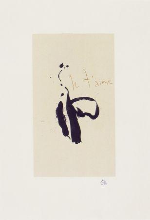Литография Motherwell - Je T'aime