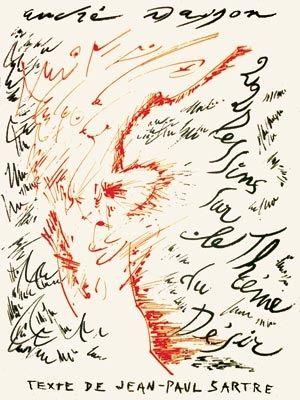 Литография Masson - Jean-Paul Sartre : Vingt-Deux Dessins Sur Le Thème Du Désir