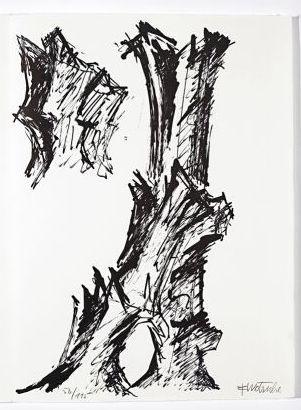Литография Wotruba - Jean Cassou: vingt-deux poèms